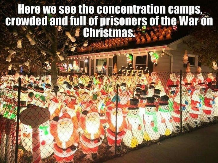 Event - Here we see the concentration camps, crowded and full of prisoners f the War on Christmas.