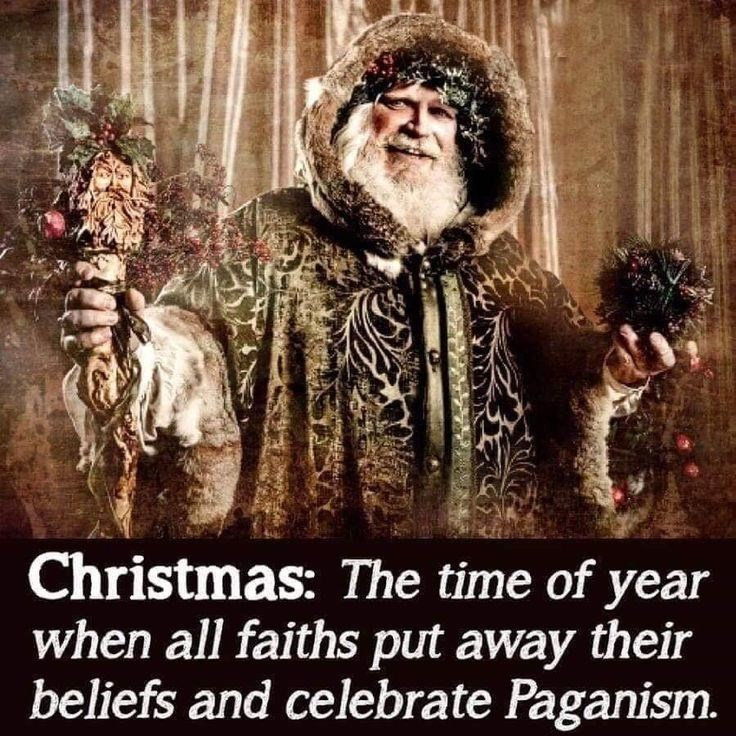 Photo caption - Christmas: The time of year when all faiths put away their beliefs and celebrate Paganism.