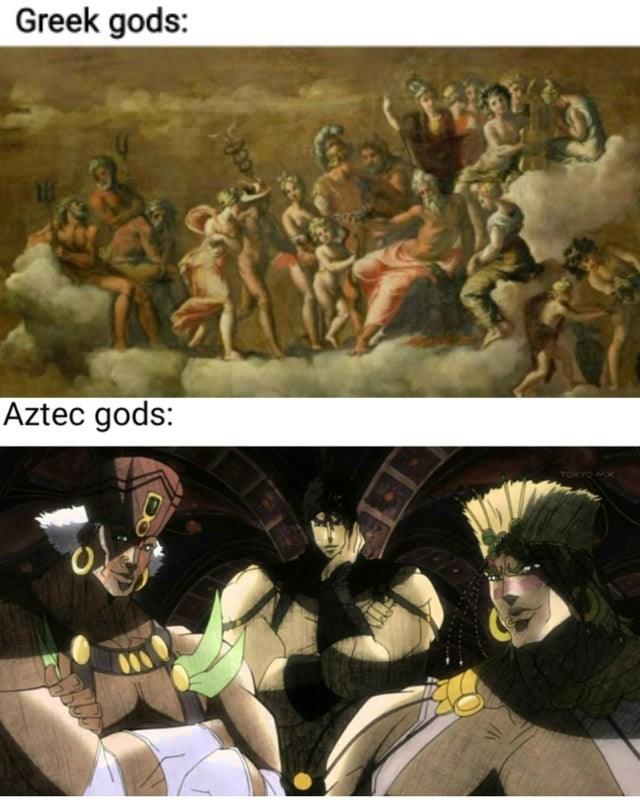 Comics - Greek gods: Aztec gods: