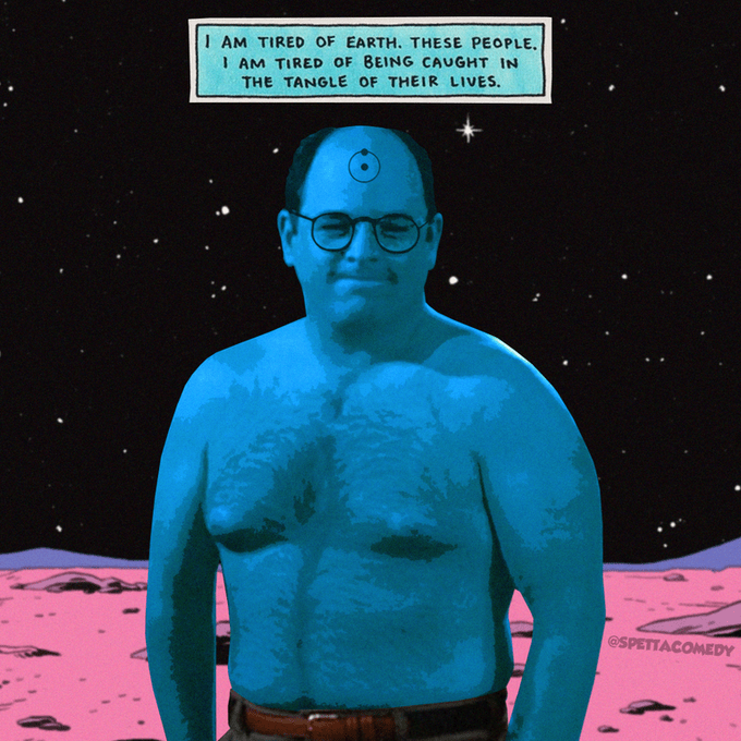 Dr. Manhattan - I AM TIRED OF EARTH. THESE PEOPLE, I AM TIRED OF BEING CAUGHT IN THE TANGLE OF THEIR LIVES. @SPETTACOMEDY