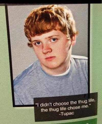 "Hair - ""I didn't choose the thug life, the thug life chose me. -Tupac"