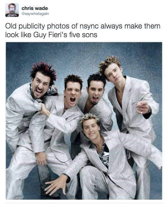 Album cover - chris wade Osaywhatagain Old publicity photos of nsync always make them look like Guy Fieri's five sons