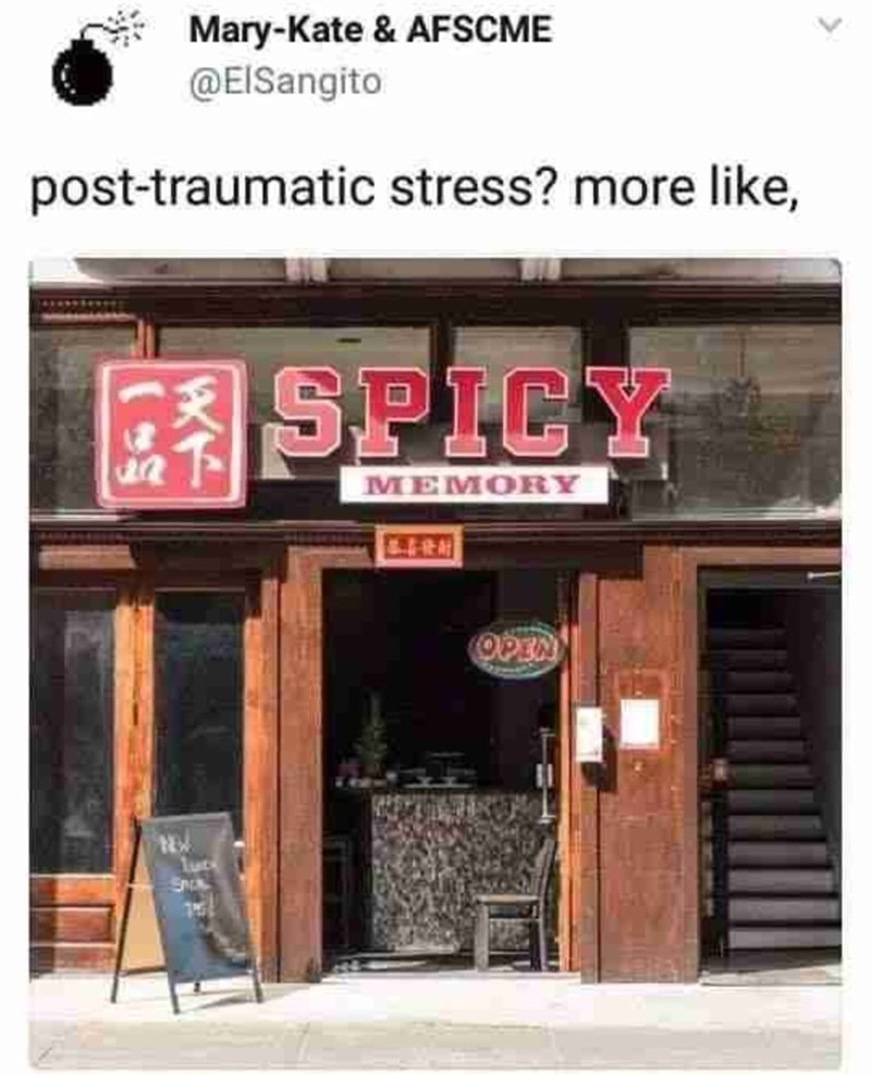 Building - Mary-Kate & AFSCME @EISangito post-traumatic stress? more like, SPICY MEMORY OPEN luce