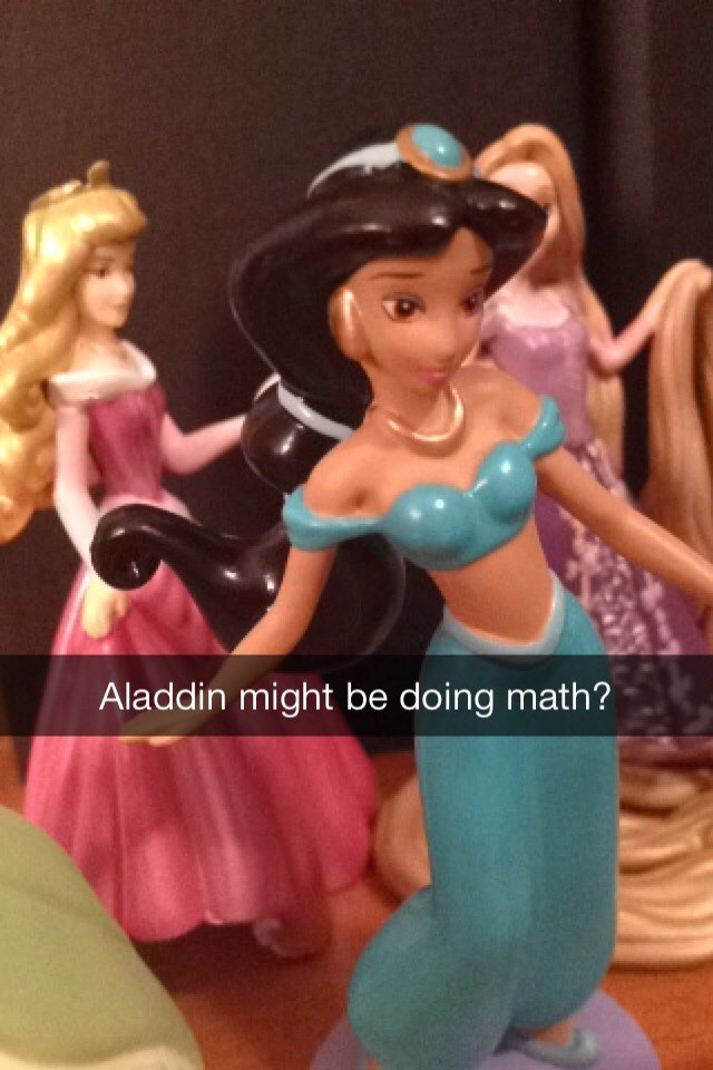 Toy - Aladdin might be doing math?