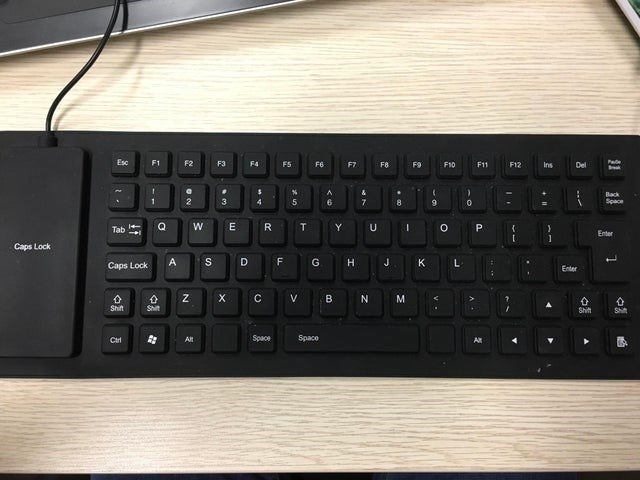 Computer keyboard - Esc F1 F2 F3 F4 FS F6 F7 F8 F9 F10 F11 F12 Ins Del Back Space T. Tab Enter Caps Lock Caps Lock Enter Shift Shit Shift Shit Space Space Cir Alt Alt P. Ji %3B %3B