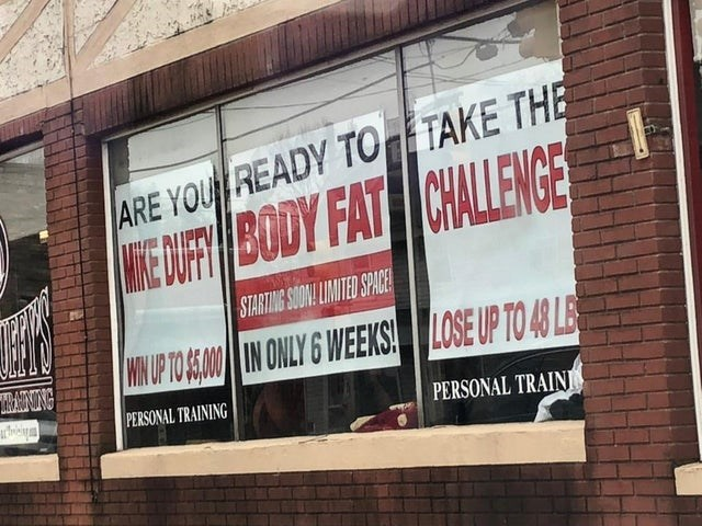 Text - ARE YOU READY TO TAKE THE WE OF BODY FAT CHALLENGE STARTING SONL LIMITED SPACE WUP TO AM IN ONLY 6 WEEKS LOSE UP TO 40 LE MANNG PERSONAL TRAINING PERSONAL TRAINI