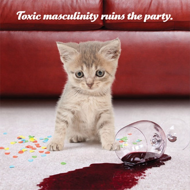 Cat - Toxic masculinity ruins the party.