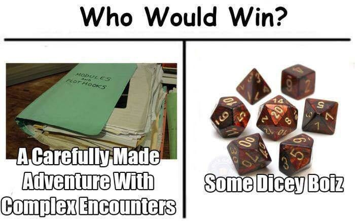 Text - Who Would Win? AtobUL ES PLOT HOOS A Carefully Made Adventure With Complex Encounters Some Dicey Boiz
