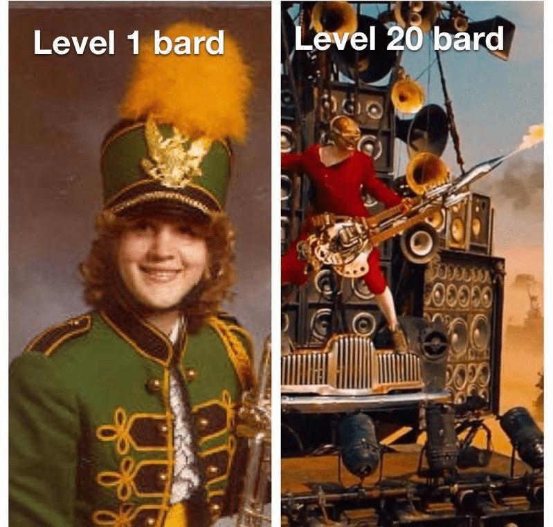 Album cover - Level 20 bard Level 1 bard