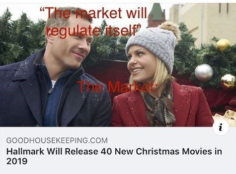 """People - """"The market will tegulateitself Maket GOODHOUSEKEEPING.COM Hallmark Will Release 40 New Christmas Movies in 2019"""