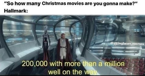 """Mode of transport - """"So how many Christmas movies are you gonna make?"""" Hallmark: @stringbean memes 200,000 with more than a million well on the way"""