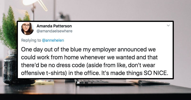 Twitter users share their solid suggestions for the workplace.