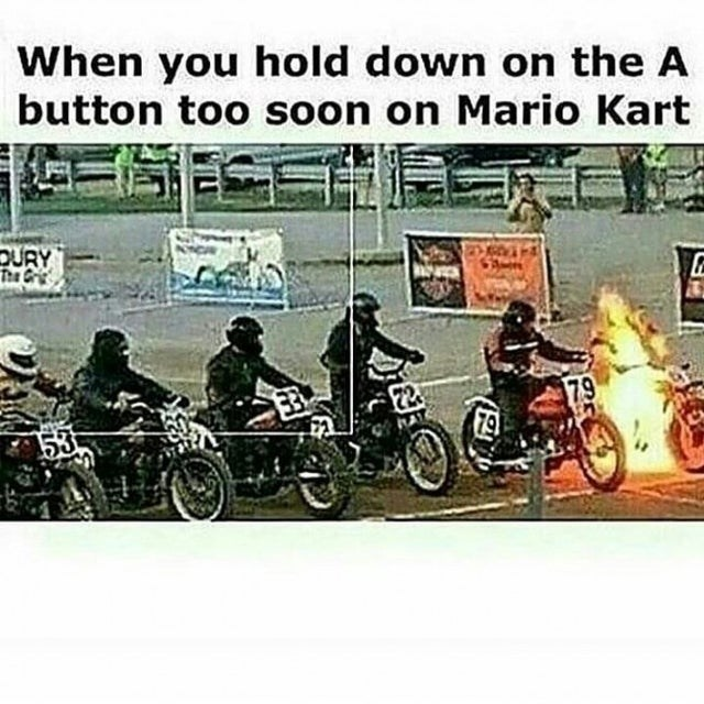 Motor vehicle - When you hold down on the A button too soon on Mario Kart DURY The Grie