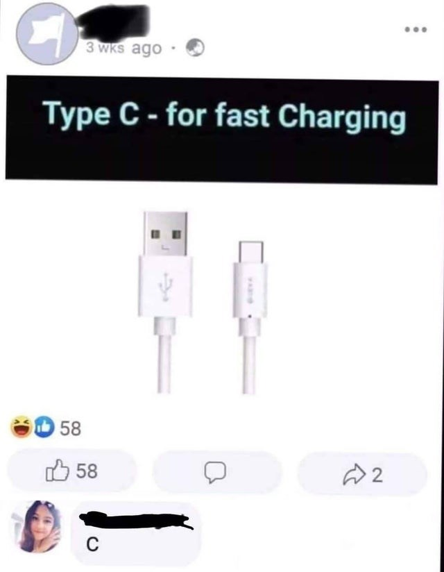 Usb cable - 3 WKs ago Type C- for fast Charging 58 O 58 2.