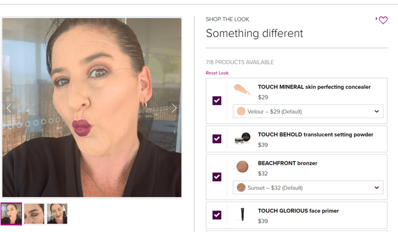 Face - SHOP THE LOOK Something different 7/8 PRODUCTS AVAILABLE Reset Look TOUCH MINERAL skin perfecting concealer $29 Velour – $29 (Default) TOUCH BEHOLD translucent setting powder $39 BEACHFRONT bronzer $32 Sunset – $32 (Default) TOUCH GLORIOUS face primer $39