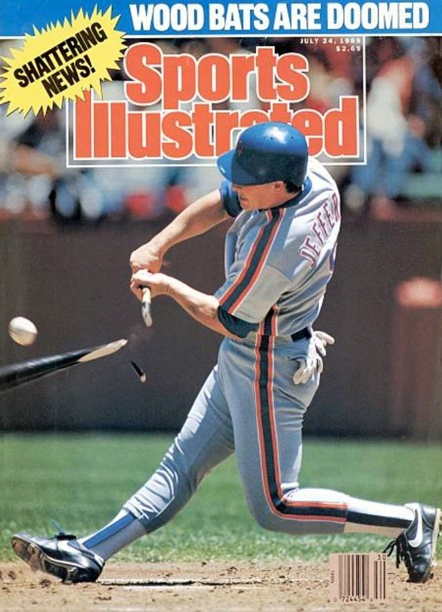 Sports - WOOD BATS ARE DOOMED SHATTERING NEWS! Sports lustred JULY 24, 1989 $2.69