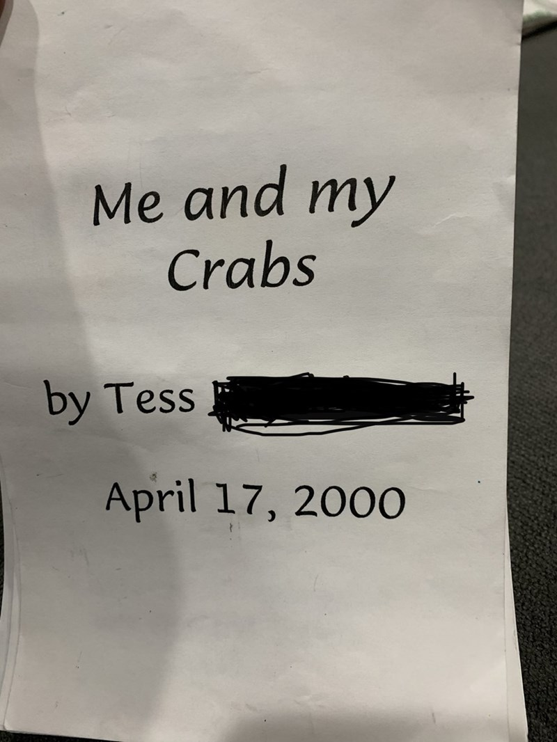 Text - Me and my Crabs by Tess April 17, 2000