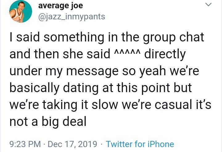 Twitter casual dating