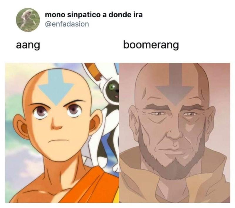 Face - mono sinpatico a donde ira @enfadasion boomerang aang