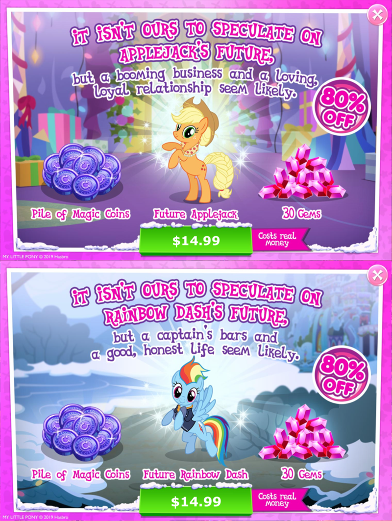 shipping applejack rarity gameloft the last problem - 9410960896