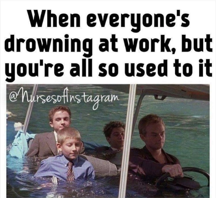 People - When everyone's drowning at work, but you're all so used to it eharsesefirstagram