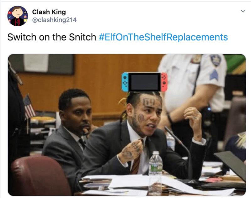 Job - Clash King @clashking214 Switch on the Snitch #ElfOnTheShelfReplacements 695