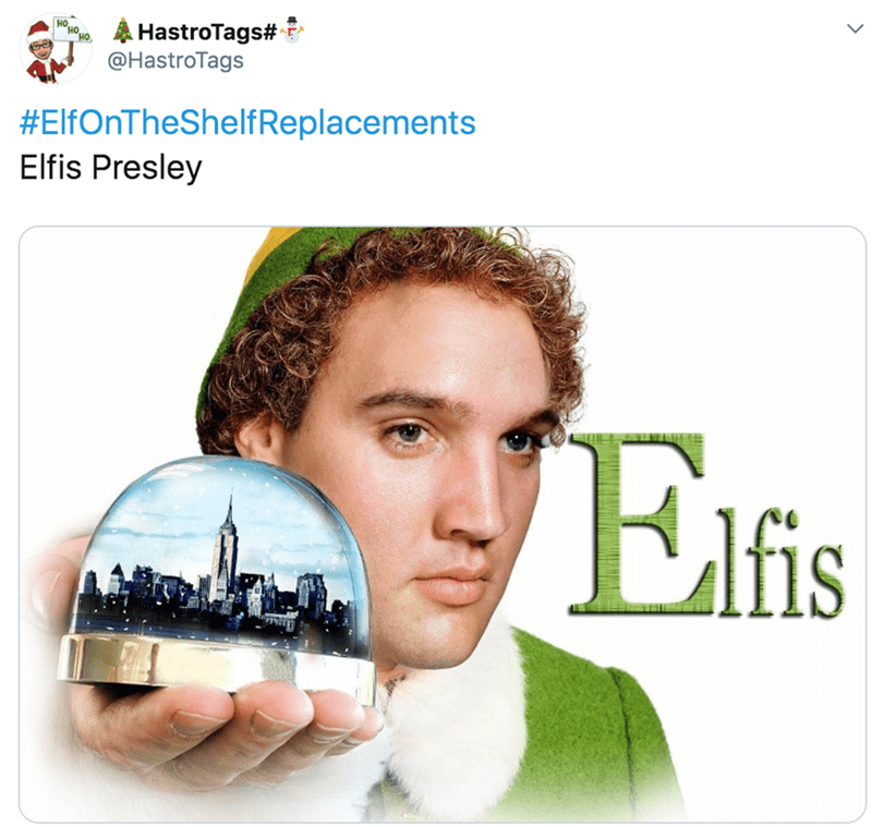 Technology - A HastroTags# @HastroTags #ElfOnTheShelfReplacements Elfis Presley Elfis