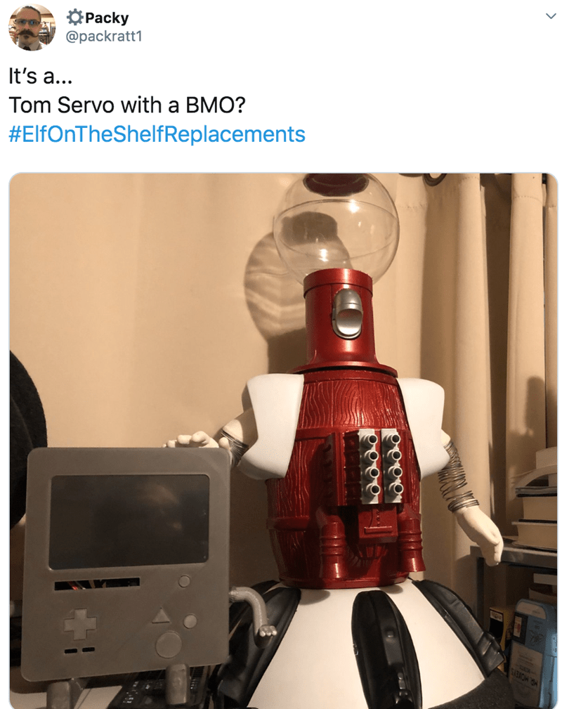 Robot - OPacky @packratt1 It's a... Tom Servo with a BMO? #ElfOnTheShelfReplacements MR HOKEYS