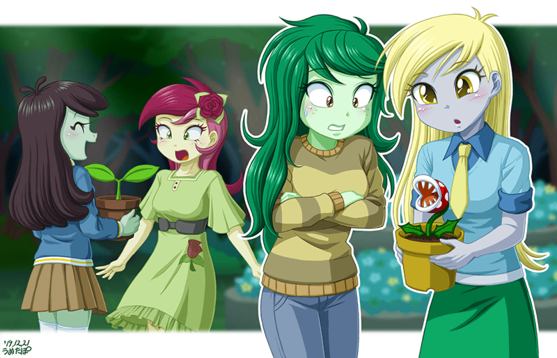 roseluck derpy hooves uotapo wallflower blush sprout greenhoof animal crossing Super Mario bros - 9411406848