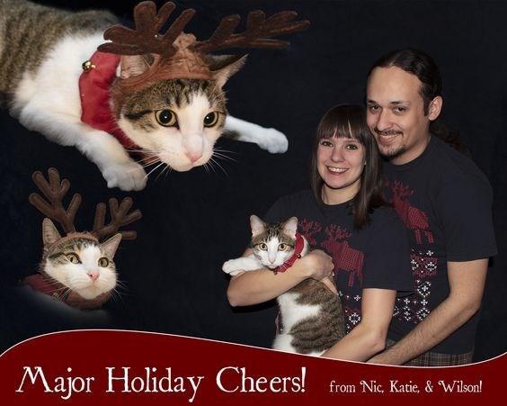 Cat - Major Holiday Cheers! from Nic, Katie, & Wilson!