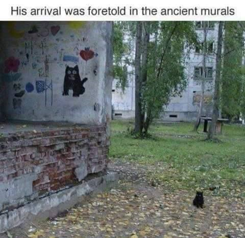 Text - His arrival was foretold in the ancient murals