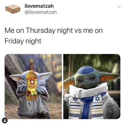 Human - ilovematzah @ilovematzah Me on Thursday night vs me on Friday night MALORI