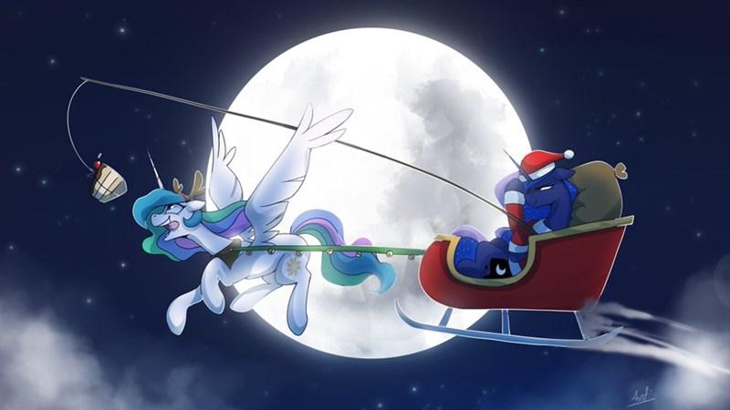 christmas princess luna princess celestia anticular - 9412190976