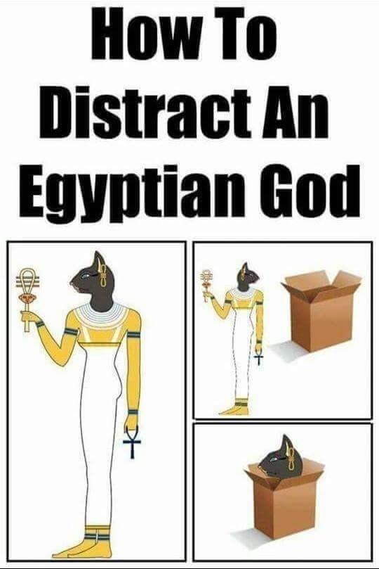 Cartoon - How To Distract An Egyptian God