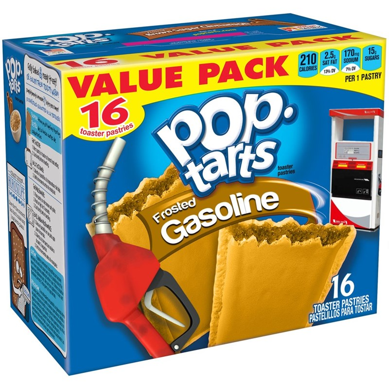 Snack - VALUE 16 সংক SAT FAT SODIUM SUGARS 7% DV CALORIES 139% DV POp. tars PER 1 PASTRY toaster pastries అగ toaster pastries Frosted Gasoline 16 TOASTER PASTRIES PASTELILLOS PARA TOSTAR ainacind