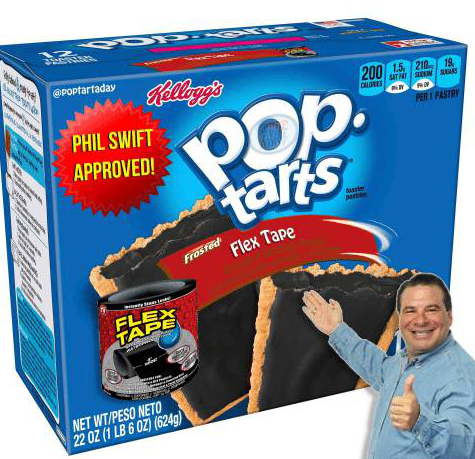 Toy - ১ ৯ @POptartaday Rellegg's PHIL SWIFT 200 1.5 210 18 SAT AT SDEM SEAS CALDRES 19 POp. tarts PER 1 PASTRY APPROVED! te Flex Tape Frosted FLEX TAPE NET WT/PESO NETO 22 0Z (1 LB 6 OZ) (624g)
