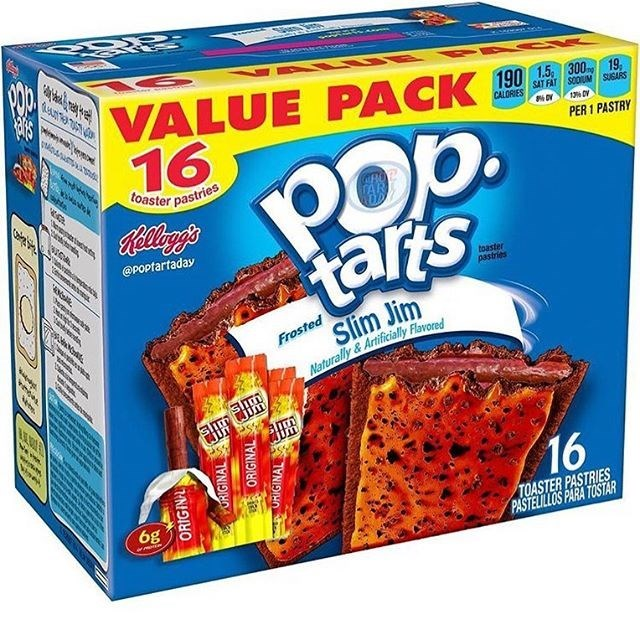 Toy - EMAMURNN అ VALUE PACK 90 E 16 SAT FAT SCOUM SUGARS CALORIES PER 1 PASTRY Pop. Toaster pastries thereptoots Rellegs @Poptartaday tarts toaster pastries Slim Jim Frosted Naturally &Artificially Flavored 16 6g TOASTER PASTRIES PASTELILLOS PARA TOSTAR ORIGINL URIGINAL ORIGINAL O IGINAL