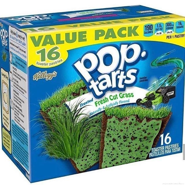 Aquarium decor - VALUE PACK 90 16 SAT FÁT SODUM SUGARS CALDRIES Pob. tarts PER 1 PASTRY toaster pastries Kelleg's aster pastr hetstem Frosted Fresh Cut Grass einecoes Maturally &itilsially Flarored 16 TOASTER PASTRIES PASTELILLOS PARA TOSTAR
