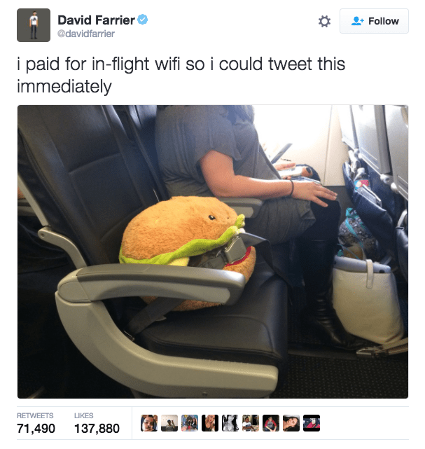 Tire - David Farrier Follow @davidfarrier i paid for in-flight wifi so i could tweet this immediately LIKES RETWEETS 71,490 137,880