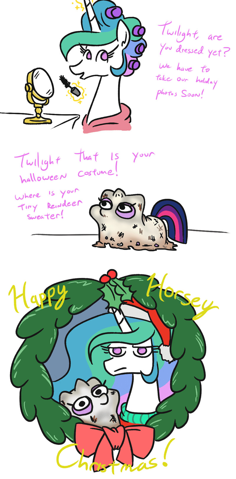 christmas jargwell prescott twilight sparkle princess celestia - 9412796416