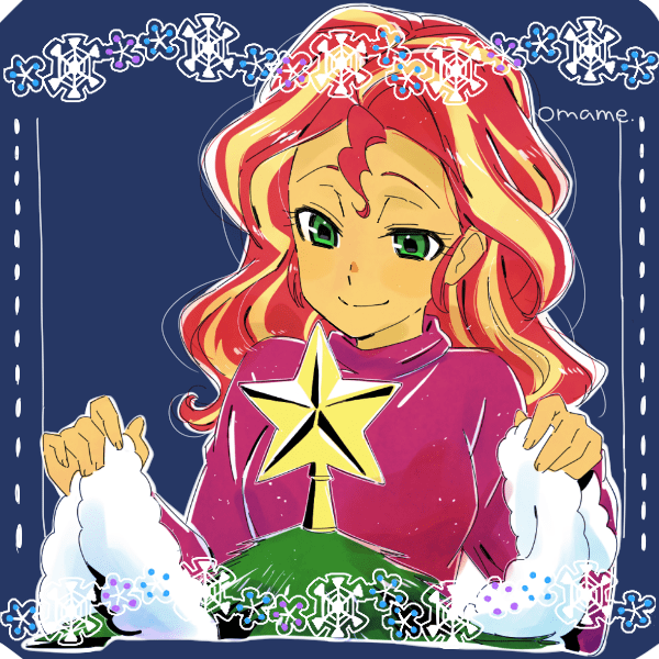 christmas applejack equestria girls twilight sparkle pinkie pie rarity 5mmumm5 sunset shimmer fluttershy rainbow dash - 9412798976