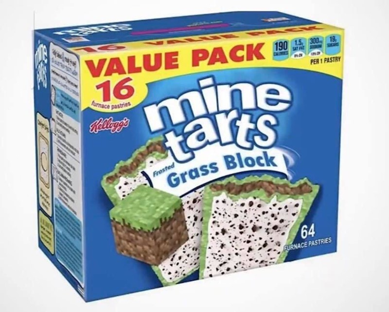 Food - Sare VALUE PACK 19 SEANS SAT FT CALOMES 16 mine tarts PER 1 PASTRY farnace pastries Kellegg's Frosted Grass Block 64 FURNACE PASTRIES