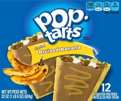 Snack - 200 1.5. 210 19, SAT FAT SODUM SUGARS POp. arts CALORIES PER 1 PASTRY toaster pastries Frosted Bruised Banana 12 NET WT/PESO NETO 22 OZ (1 LB 6 OZ) (624g) TOASTER PASTRIES PASTELILLOS PARA TOSTAR