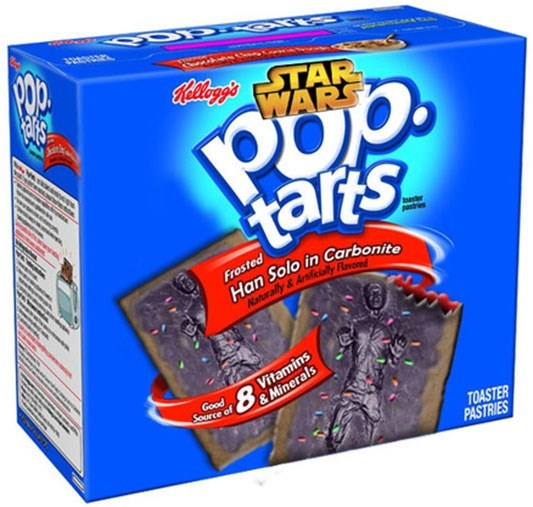 Snack - सभ Callog TAR WARS tars ies Frosted Han Solo in Carbonite Vitamins 80 Good Source of &Minerals TOASTER PASTRIES