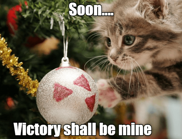 Christmas ornament - Soon. Victory shall be mine