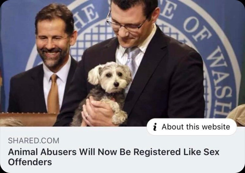 Dog breed - E OF AE i About this website SHARED.COM Animal Abusers Will Now Be Registered Like Sex Offenders WASH