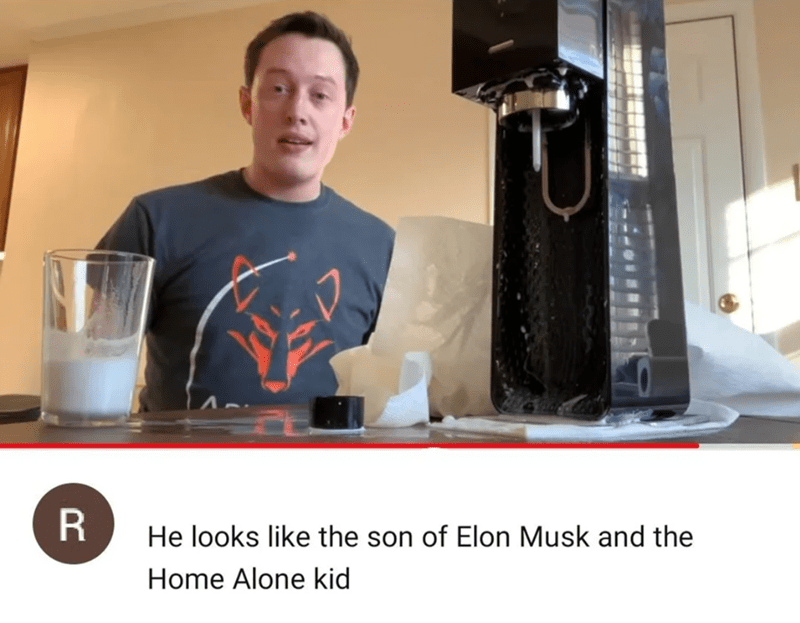 Drink - He looks like the son of Elon Musk and the Home Alone kid