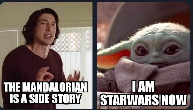 Internet meme - THE MANDALORIAN IS A SIDE STORY ПАМ STARWARS NOW