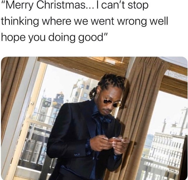 "Product - ""Merry Christmas... I can't stop thinking where we went wrong well hope you doing good"""