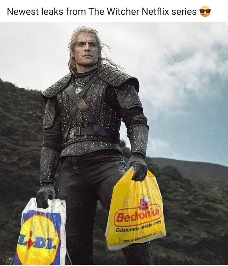 Yellow - Newest leaks from The Witcher Netflix series Bedonka LDI Cdziennie niskie ceny www.biedronka.pl ,.., ১০১